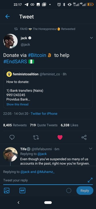 Twitter Ceo Jack Dorsey Tweets EndSARS And Solicit Support For The Protest