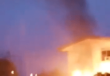 Video Of Akwa Ibom State Broadcasting Corporation Set On Fire