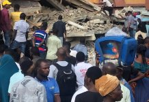 Video Of Collapsed Building In Obalende, Lagos That Killed 4 People
