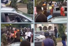 Video Of EndSARS Protesters And Soldiers Clash