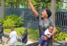 Video Of Nursing Mother And Her Baby In EndSARS Protest