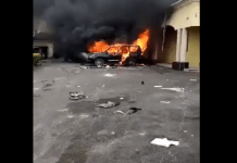 Video Of Senator Udoma Egba's house On Fire And Property Looted
