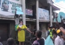 Video Of Toyin Abraham Leading EndSARS Protest In Ibadan After Being Criticized