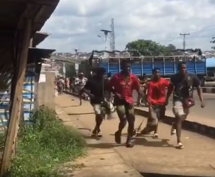 Video Of Trailer Loaded With Goats And Other Livestock Looted By Hoodlums