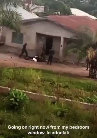 Video Showing Soldiers Flogging Residents In Ado-ekiti For Looting