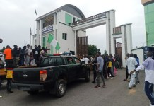 Youths In Kogi Barricades The Kogi State Government House Protesting Over SARS Brutality In The State