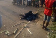 A Man Set Ablaze In Benue For Allegedly Trying To Steal Motorcycle