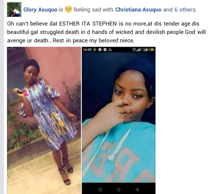 A Young Lady Esther Ita Stephen Gang Raped And Murdered In Akwa Ibom