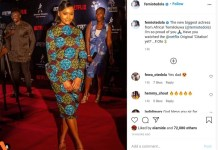Billionaire businessman Femi Otedola has described his daughter Temi Otedola as the new biggest actress from Africa