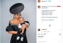 Ex bbnaija Star Nina Ivy Reveals Her Son Denzel Kelly's Face