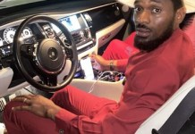 Photo And Video Of D'banj New Customized Roll Royce Wraith