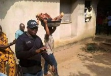 Photos Of A Woman Who Slaughtered Her Mother And Chopped The Body Into Pieces at Urua Anan Road Ikot Ekpene In Akwa Ibom