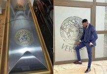 Photos Of Versace Coffin Used To Bury The Zimbabwean socialite and businessman Genius Ginimbi Kadungure
