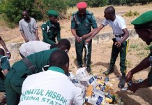 Sharia law enforcement agency in Katsina State Hisbah destroys 300 cans and bottles of alcohol