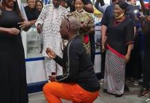 Video Of Charly Boy AKA Area Fada Proposing To His Wife Lady D Again After 45 Years Of Marriage