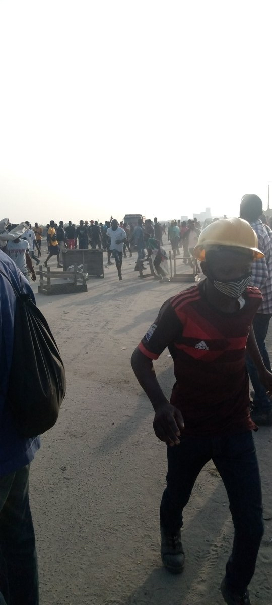 Video Of Gunshots Raining At Dangote Refinery Ibeju-Lekki Protest