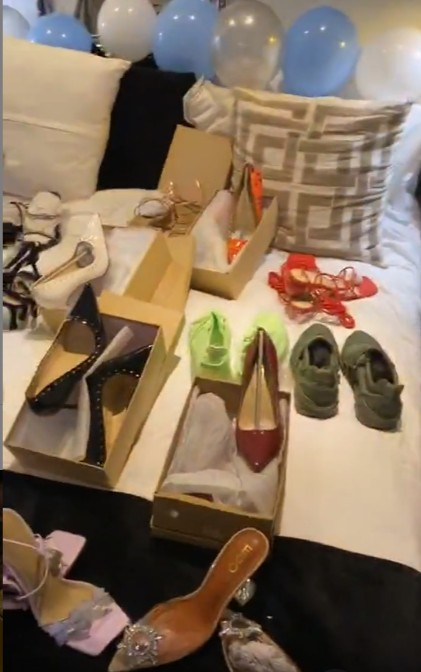 Video Of bbnaija Dorathy Bachor's Fans Surprises Her With 25 Pairs Of Shoes On Her 25th Birthday