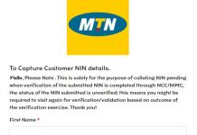 Full Steps And How To Link Your NIN With MTN Online