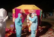 Video Of Indian Couple That Wedded In PPE Kits At Covid-19 Quarantine Centre
