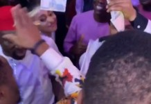 Video Of Zubby Michael And Odumeje Spraying Money On Each Other During A Child Dedication Ceremony
