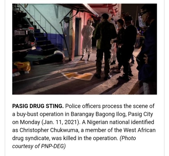 A Nigerian Man Christopher Chukwuma Killed In Philippines Drug Sting