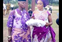 A Pregnant Nigerian Lady Marries Old Man After Man Who Got Her Pregnant Absconded