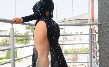 God Didn't Give Me Bumbum To Cover It - Nollywood Actress Moyo Lawal Wrote On Her Instagram Page With Half Nude Photos
