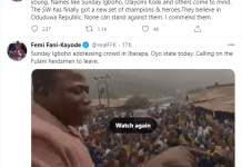 No One Can Stand Against The New Leader - Femi Fani-Kayode Supports Sunday Igboho