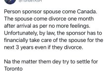 Spouse Divorces Partner A Month After Getting To Canada - Tunde Omotoye Tweeted