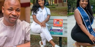 Nofisat the daughter of MC Oluomo becomes a registered nurse in US state of Georgia