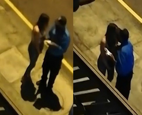 Video of a police officer caught kissing a woman he arrested for breaching Covid-19 rules