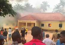 Police Station Burnt By Youths Over Killing Of Two Siblings In Ihitte Uboma Imo State