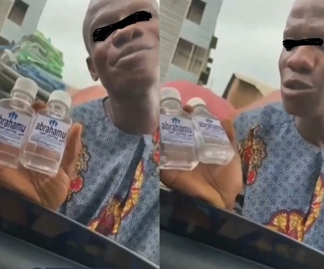 Video Of A Pastor Selling Holy Water On The Streets Of Lagos To Make People Rich