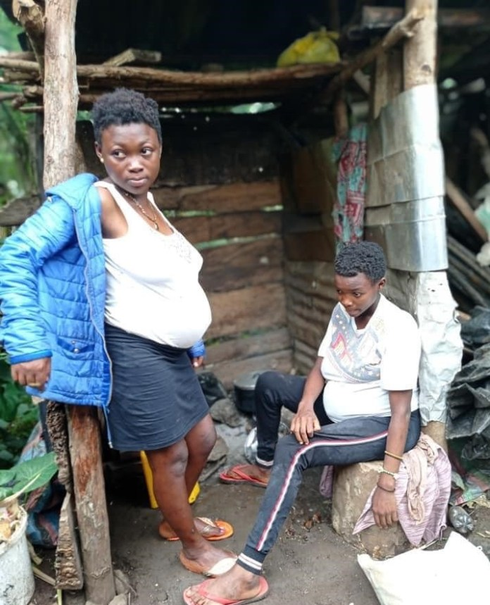 Photos Of Teenage Twin Sisters Impregnated By Same Boy In Cameroon
