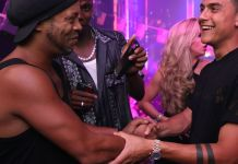 """Video Of Ronaldinho And Pogba Vibing To Burna Boy's """"On The Low"""" At Miami Night Club"""