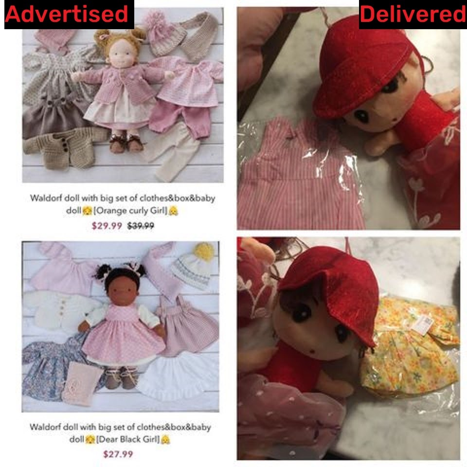 Bait and switch is a common form of online scam where poor quality products are provided in case of the advertised version