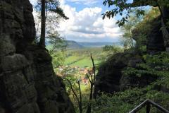 Blick vom Pfaffenstein auf Pfaffendorf.