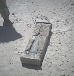 IED hidden in concrete block