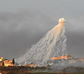White phosphorous raining down