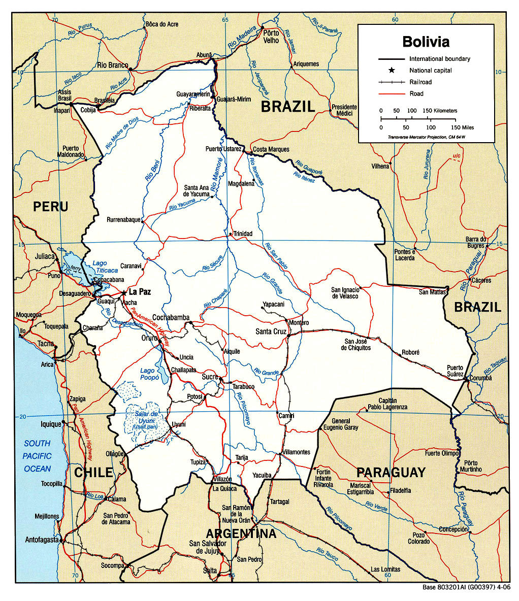 Mercosur was founded by the treaty of asunción in 1991, and later was amended by the treaty of ouro preto in 1994. Bolivia Maps