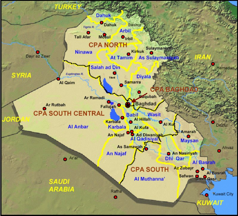 Us Military Bases Iraq Map