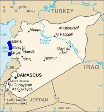 Syrian Arab Navy - Bases