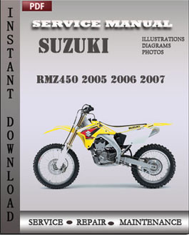 suzuki rmz450 2005 2006 2007 service workshop repair manual pdf rh digitalfactoryservicemanuals wordpress com suzuki rmz 450 service manual free download 2007 suzuki rmz 450 service manual pdf