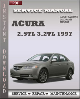 Acura 2.5TL 3.2TL 1997 manual