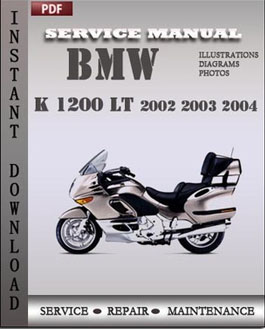 BMW K 1200 LT 2002 2003 2004 manual