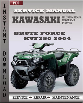 Kawasaki KVF750 Brute Force 2004 manual