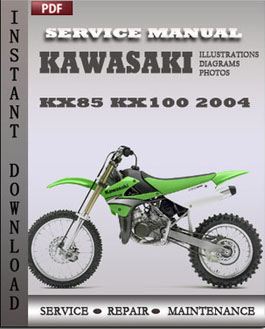 Kawasaki KX85 KX100 2004 manual