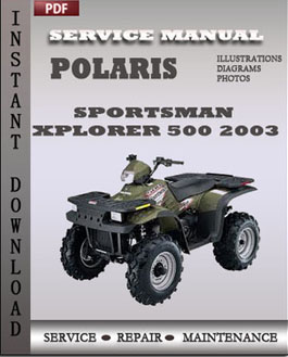 Polaris Sportsman Xplorer 500 2003 manual