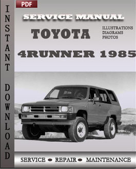 Toyota 4Runner 1985 manual