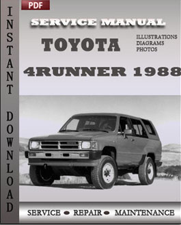 Toyota 4Runner 1988 manual